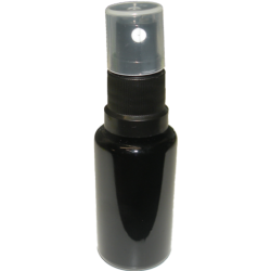 Violet glass bottle 20ml with spray attachment