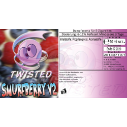 Twisted Vaping Smurfberry V2 10ml