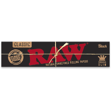RAW Classic Black Kingsize Slim
