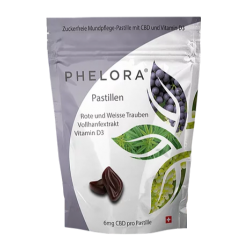 Phelora CBD Pastilles - Red and white grapes