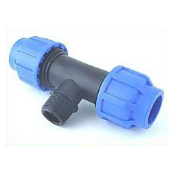 - Watering - T-Piece 25 to 3/4 (Ext.Thread) to 25 mm, bolted