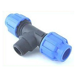 - Watering - T-Piece 20 to 3/4 (Ext.Thread) to 20 mm, bolted