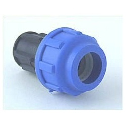 End Plug for 16 mm PE-Tube, bolted