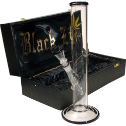 Black Leaf Bong in a Box 30cm