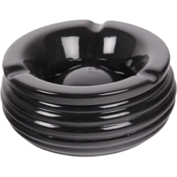 """Wind Ashtray """"Ceramics-Black"""" with Grooves 14cm"""